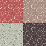 Seamless pattern set. Stylish texture with rings. Royalty Free Stock Photos