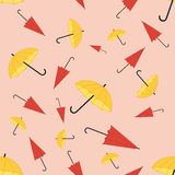 Seamless pattern. With a set of textured flat umbrellas Royalty Free Stock Images