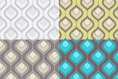 Seamless Pattern Set. Vector Royalty Free Stock Images