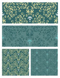 Seamless pattern set vector eps8 Royalty Free Stock Photos