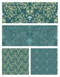 Seamless pattern set vector eps8 Royalty Free Stock Photos