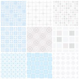 Seamless pattern set. Vector pastel background. For web sites or textile Royalty Free Stock Image