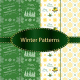 Seamless Pattern Set for winter holidays Stock Images
