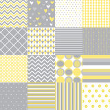 Seamless pattern set Stock Photography