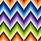 Seamless pattern with several colors zigzag elemen Stock Image