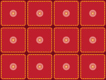 Pattern with sewed pieces of fabric. Seamless pattern with sewed pieces of fabric and buttons Royalty Free Stock Photo