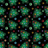 Seamless pattern from sewed pines with buttons Stock Photo