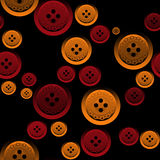 Seamless pattern with sewing buttons Royalty Free Stock Images