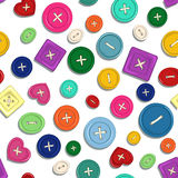 Seamless pattern of sewing buttons Stock Photos