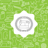 Seamless pattern with sewing element Royalty Free Stock Photography