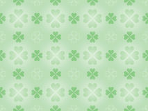 Seamless pattern with shamrock Stock Images