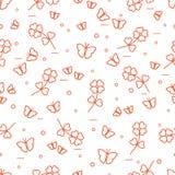 Seamless pattern with shamrock and butterflies. Saint Patrick\'s Day. Irish clover St. Patrick\'s Stock Photos
