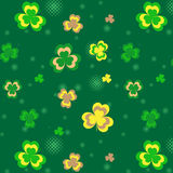 Seamless pattern with shamrock Royalty Free Stock Image
