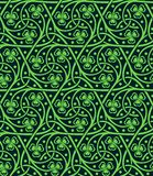 Seamless pattern with shamrock. Vector celtic ornamental seamless pattern with shamrock Royalty Free Stock Photo