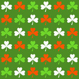 Seamless pattern with shamrocks Stock Photo