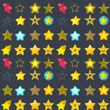 Seamless pattern shape silhouette shiny star background vector illustration. Stock Photos