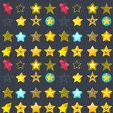 Seamless pattern shape silhouette shiny star background vector illustration. Style shape silhouette shiny star seamless pattern background vector illustration Stock Photos