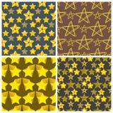 Seamless pattern shape silhouette shiny star background vector illustration. Style shape silhouette shiny star seamless pattern background vector illustration Stock Images