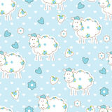 Seamless pattern with sheep Stock Photos