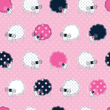 Seamless pattern with sheep Stock Photography