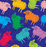 Seamless pattern sheep. Royalty Free Stock Image