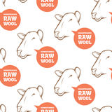 Seamless Pattern with sheep Stock Images