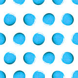 Seamless pattern with shine glitter dots. Blue draw blots. Hand-made. Isolated on white background. Fabric print. 3D Royalty Free Stock Photo