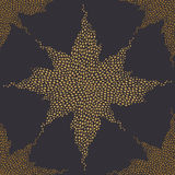 Seamless pattern with a shining star. Stock Photo