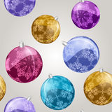 seamless pattern with shiny  balls Stock Images