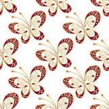 Seamless pattern with shiny butterflies royalty free illustration