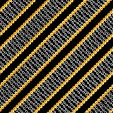Seamless pattern with shiny gold and silver chains isolated on black background for fabric. Trendy repeating print. ready for textile prints vector illustration