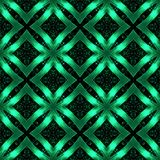 Seamless pattern with shiny shape. Abstract pattern in green metal style. Seamless background Stock Photos