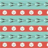 Seamless pattern ship background Stock Photography