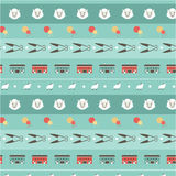 Seamless pattern ship background Royalty Free Stock Photography