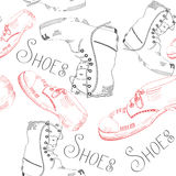 Seamless pattern with shoes. On white background Royalty Free Stock Image
