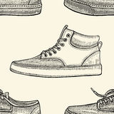 Seamless pattern of shoes Stock Images