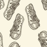 Seamless pattern of shoes Royalty Free Stock Image
