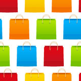 Seamless pattern with shopping bags Royalty Free Stock Images