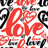 Seamless pattern with sign LOVE Royalty Free Stock Photography