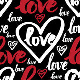 Seamless pattern with sign LOVE Stock Photo