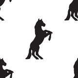 Seamless pattern silhouette horse Royalty Free Stock Photography