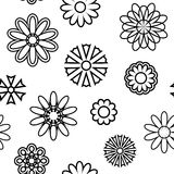 Seamless pattern with silhouettes of flowers. Seamless pattern with silhouettes of flowers on a light background Stock Images
