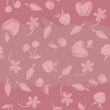 Seamless pattern with silhouettes fruit, berries a Royalty Free Stock Photography