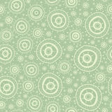 Seamless pattern with silhouettes of oriental mandalas. Stock Photos