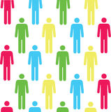 Seamless pattern with silhouettes of the person Stock Image