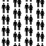 Seamless pattern with silhouettes of the person Stock Photo