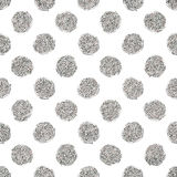 Seamless pattern of silver glitter polka dots Royalty Free Stock Photo