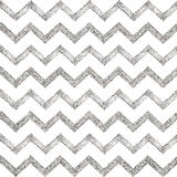 Seamless pattern of silver glitter zigzag chevron Stock Photos