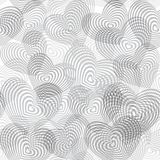 Seamless pattern silver gray white heart on white background. Optical illusion of 3D three-dimensional volume. Geometric abstract. Background for site, blog Royalty Free Stock Photos