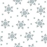 Seamless pattern with silver stars from dots and triangles Royalty Free Stock Image